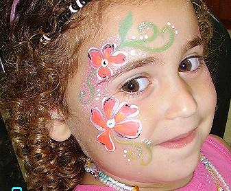 ציורי פנים פרחים