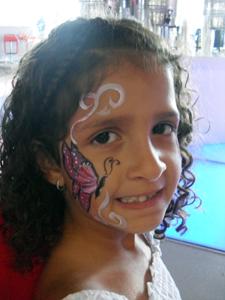 ציורי פנים פרפר