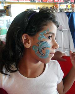 ציורי פנים דולפין