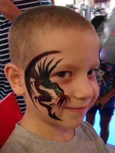 ציורי פנים דרקון