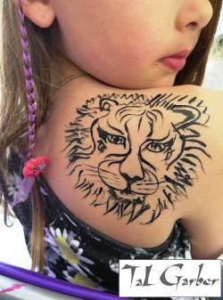 קעקוע אריה מחינה