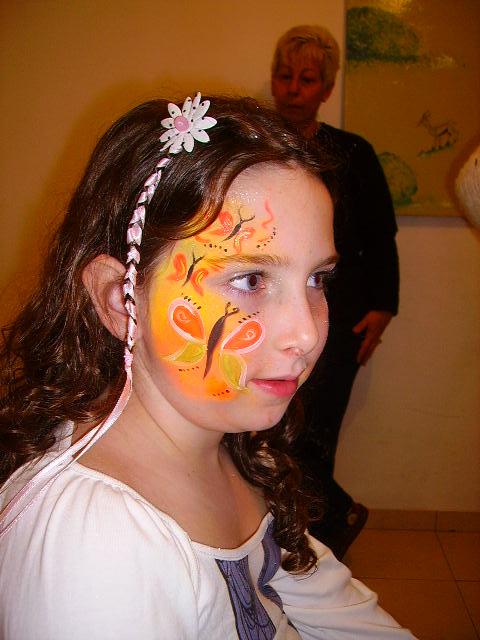ציורי פנים פרפרים