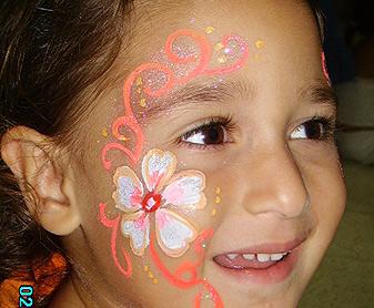 ציורי פנים פרח